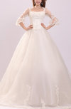 Disney Princess Garden Queen Anne 3/4 Length Sleeve Chapel Train Sequin Bridal Gowns