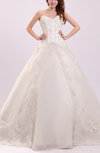 Fairytale Hall Sweetheart Sleeveless Lace up Court Train Bridal Gowns