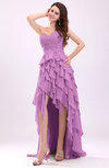Gorgeous Sweetheart Lace up Chiffon Knee Length Wedding Guest Dresses