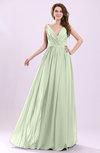 Modern A-line Sleeveless Zipper Chiffon Ruching Wedding Guest Dresses