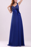 Luxury A-line Thick Straps Sleeveless Zipper Chiffon Evening Dresses