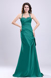 Sexy A-line Sleeveless Backless Silk Like Satin Evening Dresses