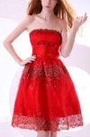 Gorgeous A-line Zipper Organza Knee Length Bridesmaid Dresses