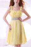 Elegant A-line Thick Straps Zipper Knee Length Prom Dresses