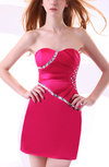Casual Sweetheart Sleeveless Zipper Ruching Homecoming Dresses