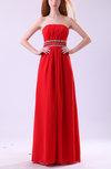 Gorgeous A-line Strapless Zip up Chiffon Paillette Evening Dresses