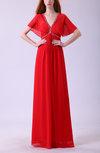 Cinderella V-neck Zipper Floor Length Sequin Mother of the Bride Dresses