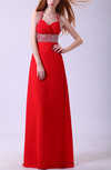 Gorgeous Halter Backless Chiffon Rhinestone Evening Dresses