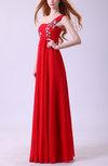 Elegant A-line Sleeveless Zipper Chiffon Evening Dresses