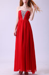 Simple A-line Zip up Chiffon Floor Length Homecoming Dresses