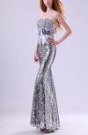 Sexy Strapless Sleeveless Zip up Floor Length Sequin Prom Dresses
