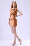 Modest Asymmetric Neckline Sleeveless Zipper Ruffles Club Dresses