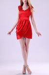 Modest Column V-neck Sleeveless Satin Draped Club Dresses