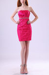 Elegant Sheath Strapless Backless Lace Wedding Guest Dresses