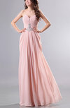 Romantic Sweetheart Sleeveless Backless Chiffon Floor Length Prom Dresses