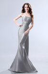 Elegant Mermaid Sleeveless Backless Court Train Evening Dresses