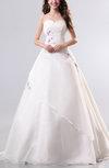 Cinderella Outdoor Sweetheart Sleeveless Organza Floor Length Bridal Gowns