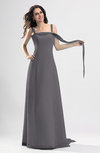 Simple Column Thick Straps Sleeveless Chiffon Pleated Wedding Guest Dresses