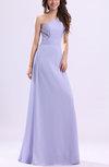Elegant One Shoulder Zip up Chiffon Ruching Evening Dresses