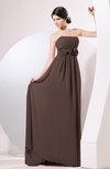 Elegant Empire Strapless Sleeveless Zip up Sweep Train Evening Dresses