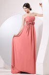 Elegant Empire Strapless Sleeveless Zip up Sweep Train Evening Dresses