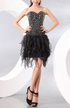 Cute A-line Sleeveless Short Beaded Homecoming Dresses