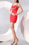 Elegant Sheath Sleeveless Criss-cross Straps Satin Mini Party Dresses