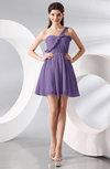 Elegant A-line One Shoulder Chiffon Short Ruching Wedding Guest Dresses