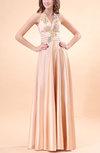 Elegant A-line Sleeveless Zip up Floor Length Ruching Homecoming Dresses