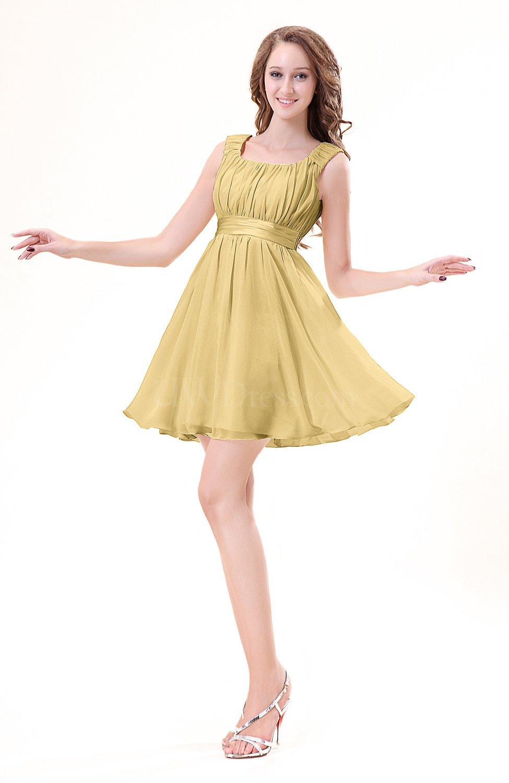 Gold Modest Sleeveless Zipper Chiffon Ribbon Wedding Guest Dresses Uwdress Com,Audrey Hepburn Sabrina Wedding Dress
