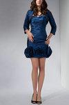 Elegant Sweetheart Zipper Taffeta Short Flower Party Dresses