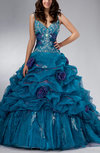 Disney Princess V-neck Sleeveless Lace up Floor Length Quinceanera Dresses