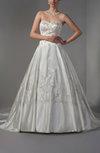 Fairytale Outdoor Princess Sweetheart Sleeveless Satin Beaded Bridal Gowns