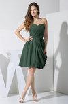 Elegant Column Sweetheart Chiffon Knee Length Pleated Little Black Dresses