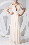 Elegant Fishtail Short Sleeve Zipper Paillette Evening Dresses