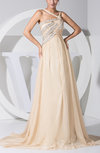 Romantic Empire Thick Straps Court Train Paillette Evening Dresses