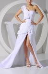 Modern Sheath One Shoulder Sleeveless Chiffon Court Train Evening Dresses
