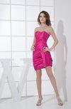 Modern Sheath Sweetheart Zipper Ruching Graduation Dresses