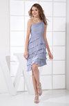 Fairytale A-line Asymmetric Neckline Chiffon Short Graduation Dresses