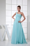 Romantic Empire One Shoulder Chiffon Edging Prom Dresses