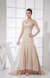 Glamorous Fit-n-Flare Sweetheart Sleeveless Ankle Length Beaded Homecoming Dresses