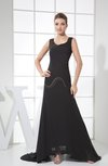 Sexy A-line Scoop Criss-cross Straps Chiffon Little Black Dresses