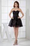 Plain A-line Sweetheart Satin Mini Cocktail Dresses