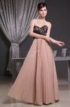 Elegant Sweetheart Sleeveless Backless Chiffon Floor Length Evening Dresses