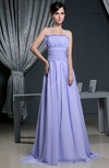 Plain A-line Scalloped Edge Sleeveless Ruching Bridesmaid Dresses