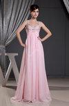 Romantic A-line Thick Straps Sleeveless Zip up Floor Length Evening Dresses