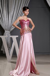 Glamorous Column Spaghetti Sleeveless Backless Paillette Evening Dresses