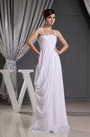Traditional Destination Sheath Chiffon Floor Length Beading Bridal Gowns