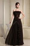 Romantic Scalloped Edge Sleeveless Chiffon Floor Length Sash Evening Dresses