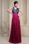 Plain Empire Thick Straps Chiffon-Satin Ribbon Graduation Dresses